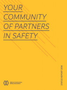 2016 ACSA Status Report: Your Community of Partners in Safety
